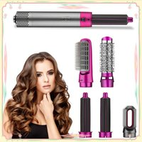 Hair Dryer 5 In 1 Professional Air Brush Automatic Rotating Hairdryer Hairstyling Tools Blow With Nozzles Curling Iron Electric Brushes