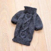 Dog Apparel Basic Bottoming High End Two Leg Fashion Gentlemen Handmade Knitted Sweater Coat Maltese Yorkie Chihuahua Winter