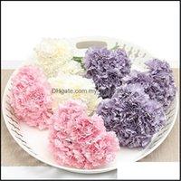Decorative Festive Party Supplies Gardendecorative Flowers & Wreaths Artificial Slik Carnations Floral Bride Bouquet Home Wedding Decoration