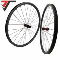 자전거 바퀴 700C 탄소 디스크 브레이크 도로 Wheelset 240s Center Lock 35 / 38 / 45 / 50mm Tubeless 스루 액슬 100 * 12mm / 15mm 142 * 12mm