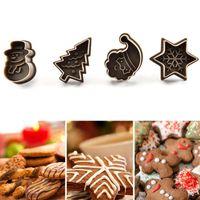 베이킹 금형 부활절 쿠키 스탬프 크리스마스 트리 눈사람 플라스틱 금형 비스킷 커터 생과자 플런저 퐁당 케이크 장식 도구