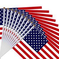 مصغرة أمريكا ناحية الوطنية العلم 21 * 14 سم النجوم الأمريكية وأعلام المشارب للاحتفال بالمهرجان الانتخابات العامة LLE 6849