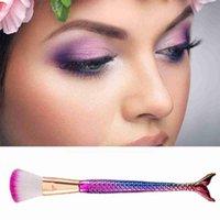 Makeup Brushes Kit Natural Tool Mermai Pencil Cosmetics Artist Face Highlighter Foundation Eyeshadow Bronzer Of Set Mermaid Q3F0
