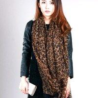 6 unids pop moda mujer leopardo impresión suave chal muselina bufanda envoltura largo balinés hilado 2color