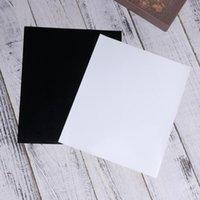 Fensteraufkleber 2 Blätter Wärmeübertragungsfilme PU-PVC-Druck Micro-elastischer Film DIY T-Shirts Tuch Taschen Liefert schwarz