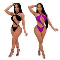 Swimsuit Women Swimwear V Neck Type S One Piece Sexy Trend Backless Sandy Beach Bodysuit Bikini YCH