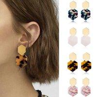 Fashion Bohemian Statement Acrylic Earrings Womens 7 colors Acetate Stud Earring Fashion Jewelry Gifts wjl4618