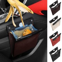 Co-pilot Dustbin Folding Leak-proof Faux Leather Multifunctional Vehicle Trash Can For Car Organizer