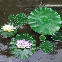 PU artificial leaves home decorative flowers 10-60cm Lotus Leaf water lily floating plant Pool Decoration