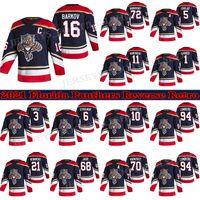 Florida Panthers Jersey 2021 Retro Retro 72 Sergei Bobrovsky 16 Aleksander Barkov 1 Roberto Luongo 5 Aaron Ekblad 68 Jaromir Jagr Hockey Jerseys