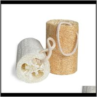 Natural Loofah Luffa Suministros de baño Protección ambiental Producto Limpieza Exfoliada Frote Back Soft Loofah Toalla Cepillo Pote Lavado Platos F Feocn