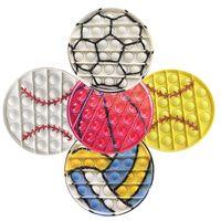 12.5cm Gobang Fidget Toys Lot Pas Cher Reliver Anti Stress Ball Game Football Baseball Cosas Figet Toys Adulto Niños Juguetes Niña Regalo