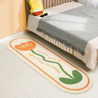 Carpets Non-Slip Floor Mats Home Decor Fluffy Nordic Bedroom Bedside Carpet Flower Soft Rug Living Room Comfortable Rugs