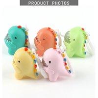 Fidget Toys Fun Software Dinosaur Key Chain Decompression Child Adult Finger Slimy Anti-stress Creative Sensory Toy Gift