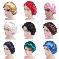 european and american style ladies satins lace night hats chemo caps hair care hat smooth bright satin fabrics DD334