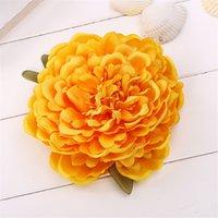 14cm pivoine fleur tête artificielle artificielle grandes fleurs pour accessoires de cheveux bohémiens mariage bricolage guidon décoratif faux mur floral gga4322