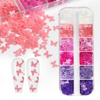 Nail Art Decorations Summer Butterfly Flowers Shape Glitter Flakes Colorful Mix Sparkly Sequins For DIY Manicure Gel Polish Nails Accessorie