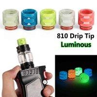 Luminous Drip Tip Snakeskin Epoxy Resin 810 Mouthpiece for TFV12 8 Atomizer RDA RTA Tank E Cigarettes Vape Accessories VT0074