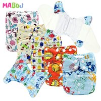 MABOJ pañales de tela bebé AIO Pañal todo en un bambú lavable impermeable a prueba de agua Nappies reutilizables Nappies al por mayor 1015