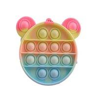 Nuovi giocattoli irrequieto delle monete Borsa colorate bolla bolla sensoriale Squishy Stress Stress Reliever Autism Ha bisogno Anti-stress Rainbow Adult Toy Piccole borse per