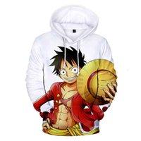 Erkek Tasarımcı T Shirt 2021 Anime Beyaz Tek Parça Hoodie Luffy Deniz Adam Japon Kazak Artı Boyutu Kravat Boya Blusa Moletom Masculino Hoddies 4XL S8F4