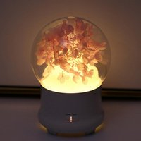 Essential Oils Diffusers Eternal Flower Aroma Diffuser Oil Air Humidifier With Colorful LED Lights For Home Ultrasonic Cool Mist Purifier