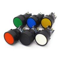 스위치 22mm 순간적 자체 휴식 Slef-Return 푸시 버튼 빨간색 녹색 파란색 노란색 검은 색 흰색 No + NC XB2-EA142 XB2-EA145 XB2-EA155