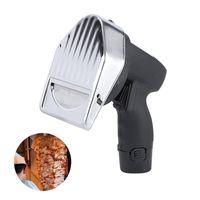 Wireless Electric Kebab Slicer Shawarma Doner Kebab Knife Handheld Roast Meat Cutting Machine Gyro Knife 80W