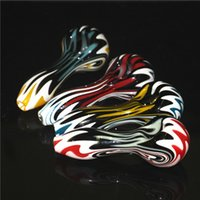 Glass Oil Burner Pipes Smoking Tobacco Hand-Pipe Mini Spoon Pipe Bubbler silicone nectar collector
