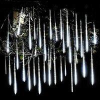 Strings 30 50cm Meteor Shower Rain 8 Tubes LED String Lights Waterproof Christmas Outdoor Patio Decorations Wedding Navidad Tree Holiday