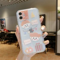 Strawberry girl pattern photo frame transparent phone cases with laser paper for iPhone 12 11 pro promax X XS Max 7 8 Plus