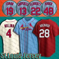 Cardinal 28 Nolan Arenado Jersey St Louis Paul Goldschmidt Matts Jerseys Harrison Bader yadier Molina Ozzie Smith Jack Flaherty