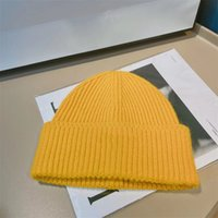 15 Colors Thick Warm Winter Designer Beanies Hat Triangle Logo Knitted Windproof Caps Sretch Soft Ski Sport Men's and Women's Brand Cap X0901C