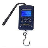 50pcs 40kg 10g Portable Mini Electronic Scale Scales Hanging Fishing Luggage Hook Pocket Digital Weight Free Ship DH5487