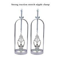 1Pair métal Nipple Clips Bondage Stimulateur de mamelon Stimulateur réglable Torture réglable Pince de rétention Dispositif de rétention Massage mammaire