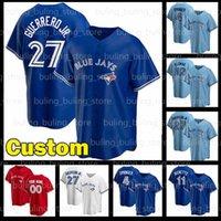 27 Vladimir Guerrero JR Jersey Toronto 4 George Springer Blue Jays 11 Bo Bichette 12 Roberto Alomar Roy Halladay Joe Carter Baseball Camisas