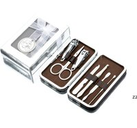 Manikyr Set Nail Clippers Pedicure Kit Party Favor Rostfritt Stål Present med vackert fodral presenter för baby shower gäst HWB9202