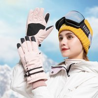 Winter warm ski protective gloves outdoor sports waterproof motorcycle bicycle cycling Racing Glove women girls Touch Screen snow Snowboarding mittens