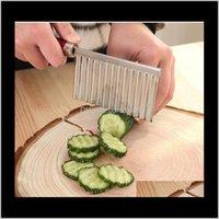 Tools Kitchen, Dining Bar Home & Gardenpotato Wavy Knife Stainless Steel Plastic Handle Gadget Vegetable Fruit Cutting Peeler Cooking Tool Ki