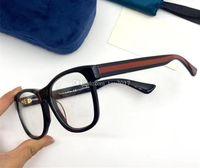 Mode-kurze Quadrat-Streifen E Brillen-Rahmen-Männer Unisex 55-17-145 Leichter Plankenrand für Verordnungsgläser Full-Set-Koffer