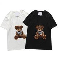 2021 Herren T-Shirts Herren Sommer Fishion Druck Tees Damen Tshirt Gestickte Buchstaben Lässig Atmungsaktiv 2 Farben Größe M-2XL
