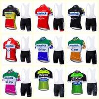 Equipo de paso rápido Ciclismo Mangas cortas Jersey Babero Shorts Sets 2020 Nuevos Tops Masculinos Hombres Ropa deportiva Mountain Bike Ropa U20030603