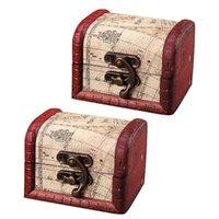 خمر صغير خشبي مربع الإبداعية مجوهرات تخزين الرجعية التعبئة والتغليف حساسة حاوية الحلوى للحزب المنزل (زجاجات الجرار