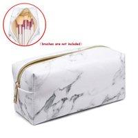 Beauty Travel Cosmetic Bag Girls Fashion Multifunzione Portatile Borse da stoccaggio per trucco Spazzola TRUCCHIO # 40 Strumenti per sopracciglia Stencil