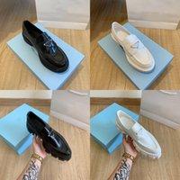 2021 Moda Vestido Zapatos Mujeres Boda Partido Calidad Cuero Tacón alto Calzado Plano Negocio Formal Loafer Social Chunky con caja original