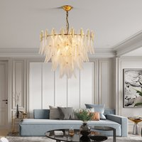 chandelier living room atmospheric lighting net red ins wind restaurant light creative decorative crystal chandelie