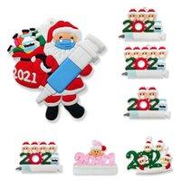 Moda Personalità Soft PVC Santa Claus Pendente Corda Decorazione dell'albero di Natale con pendente della siringa all'ingrosso