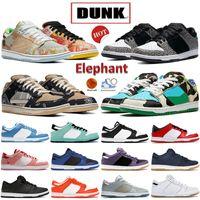 Más nuevo Dunk Elephant UNC Plataforma Correr Zapatillas Street Hawker Costa Chunky Dunky Blanco Blanco Travis Scotts Universidad Azul Kentucky Bajo Hombres Mujeres Sneakers