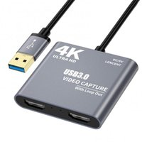 50% Off 4K 1080P -compatible To USB 3.0 Video Audio Loop Out HD 1080p60 Capture Card Adapter Hubs
