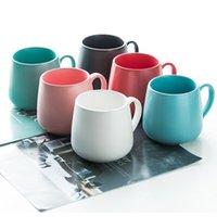 Ceramic Coffee Mug Creative Matte Pure Color Coffe Mugs Tumbler Cup Tea Milk Latte Porcelain Novelty Tumblers Cute Cups